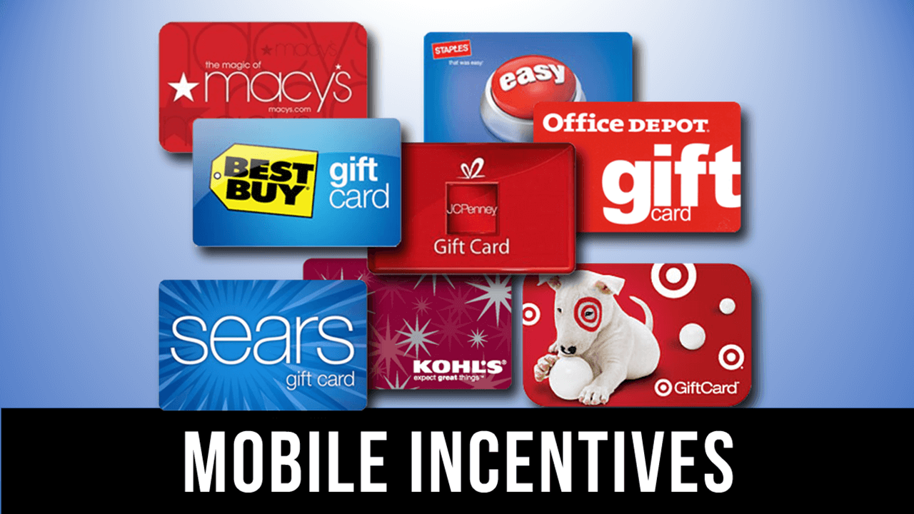 Reward Your Prospects, Client & Customers for good behavior. Mobile Incentives